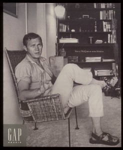 1970, Steve McQueen - Gap ad