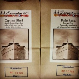 Custom blends for our friends at the S. S. Keewatin. Put into service in 1907, The Keewatin is the last surviving Steam Ship from the Edwardian Era.
