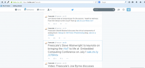 Freescale tweet re industry pubs and events