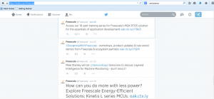 Freescale tweet re Designing with Freescale
