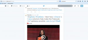 Freescale tweet re Oracle technology collaboration