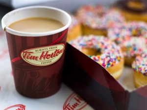 tims coffee and doughnut