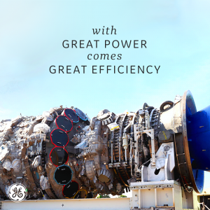 Motivational photo of a motor created by GE.