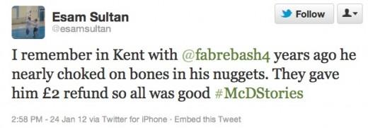 #McDStories - Negative Comment