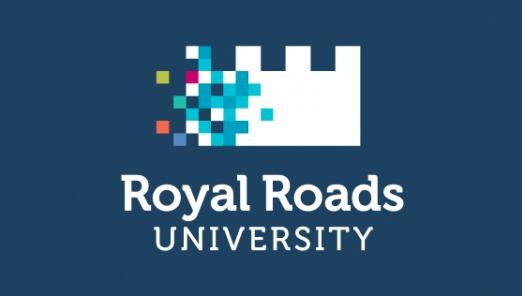 royal roads logo on blue
