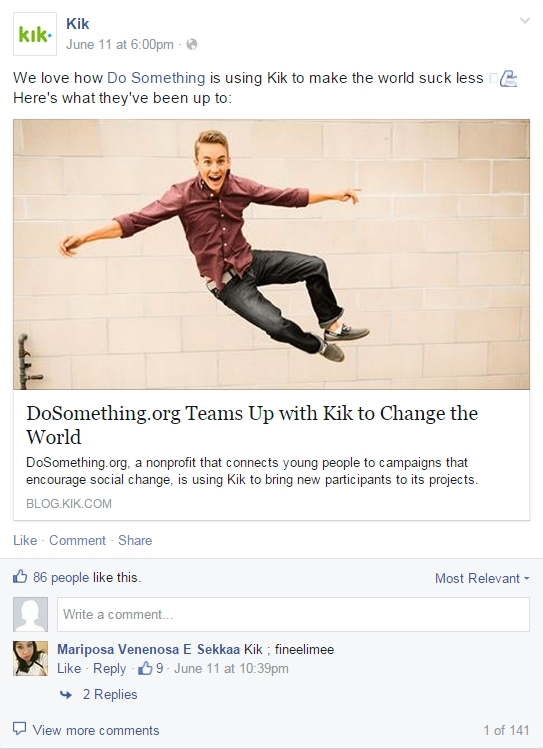 FB do something