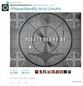 Fallout 4 Teaser Tweet