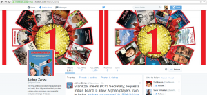 Afghan Zariza's Twitter page