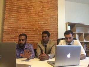 [L to R]: Shahan Rizvi (COO, co-founder), Ryan Bogle (CEO, Founder) & Asad Rizvi (CTO, Co-Founder)