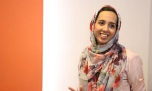 Hiba Masood speaking at the Google Business Group Women in Karachi