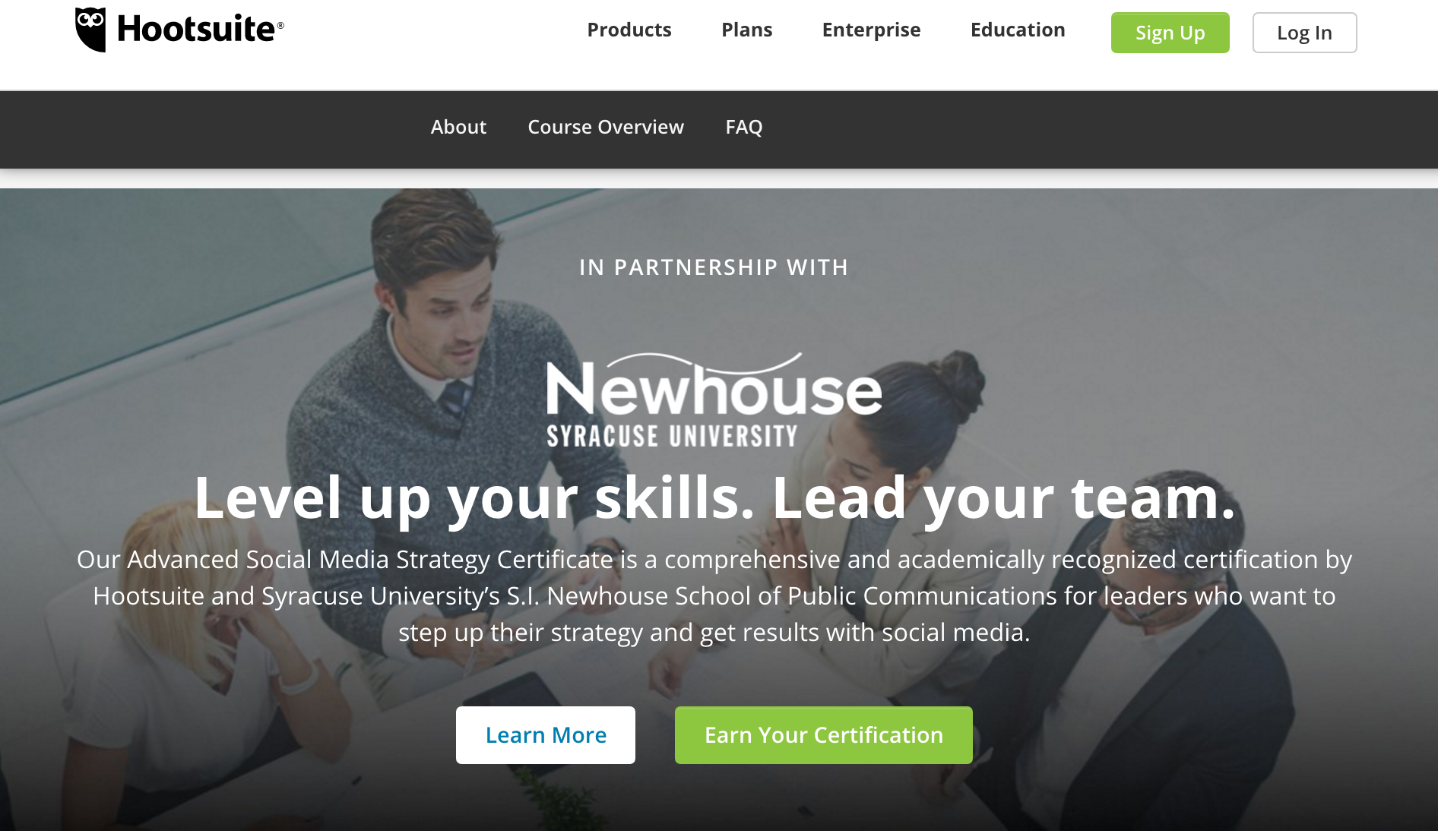 Hootsuite's Advanced Social Media Strategy Certificate